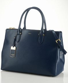 Lauren Ralph Lauren Newbury Double Zip Satchel Handbags   Accessories -  Macy s 5980edecd0