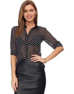 Button Me Up Blouse Was $79.00 Now $40.00 www.richgurl.com