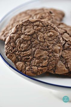 These Triple Chocolate Cookies are a chocolate lovers delight! Filled with three kinds of chocolate, these soft, chewy cookies are a favorite recipe!