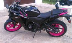 Pink & black cbr 250