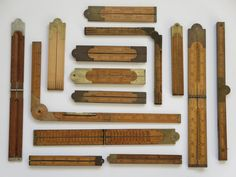 Antique carpenter's Folding Rules | Collectors Weekly