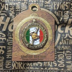 Hard Rock Pin Italy Rome Limited Edition 2016 Europe Compass Series 16