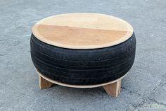 ECO-IDEAS Y RECICLAJE : Cómo hacer una mesa  utilizando un neumático viejo...