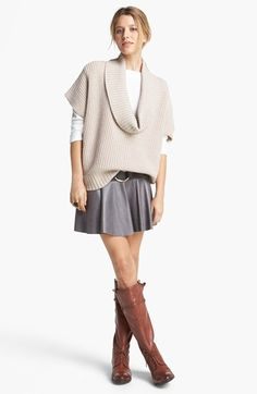 Trina Turk Sweater, Hinge® Skirt & Sam Edelman Boots  available at #Nordstrom Favorite Complete Outfit #3