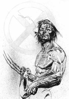 Wolverine by Gabriele Dell'Otto. Now this is more like him - the wolverine played by what's his face is just too hot