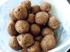 Healthy brownie dough bites...gluten free...going to add chocolate protein powder for the perfect easy post-workout meal!