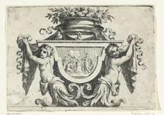 Twee vrouwelijke bovenlichamen naast paneel |Loir, Nicolas Pierre, Loir, Nicolas Pierre