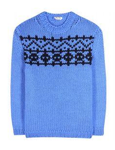 #miumiu - intarsia wool sweater
