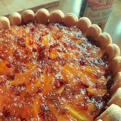 Tort mango-brzoskwinia