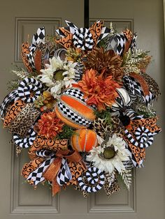 Pumpkin Wreath, Wreath Fall, Summer Wreath, 4th Of July Wreath, Small Pumpkins, White Pumpkins, Fall Home Decor, Autumn Home, Wreaths For Front Door