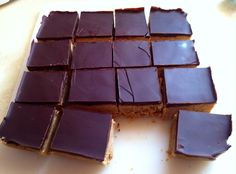 Chocolate Peanut Butter Bars (recipe from Loraine Pascal)