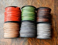 SALE Quality Round 1mm Leather Cording In 25 by HammeredEdgeStudio
