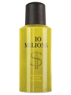 Deodorant spray 1O MILIONS - 150 ml - Parfum deodorant. Pentru prospetime si confort. 24 de ore - protectie impotriva transpiratiei. Parfumul puternic revigorant persista mult timp. Esente de parfumuri frantuzesti. Extra concentratie de parfum. Nu lasa urme pe haine. Testat dermatologic. Body Spray, Lipstick, Gold, Beauty, Fragrance, Lipsticks, Beauty Illustration, Yellow