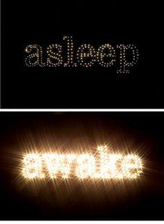 Asleep-Awake + Typography | Louise Moe-Dean
