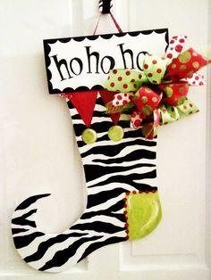 Stocking door #Christmas Decor