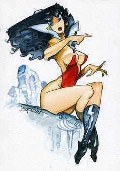 Alfonso Azpiri - Vampirella Comic Art