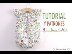 Baby girl romper pattern and tutorial (in Spanish) Baby Clothes Patterns, Sewing Patterns For Kids, Sewing For Kids, Baby Sewing, Baby Patterns, Clothing Patterns, Sewing Clothes, Diy Clothes, Couture Bb