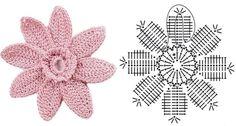 crochet flower diagram | Crochet flowers diagram 5