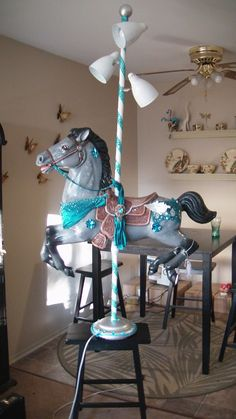 Carousel Horse Lamp - Reckless by Dreamkeepers on DeviantArt