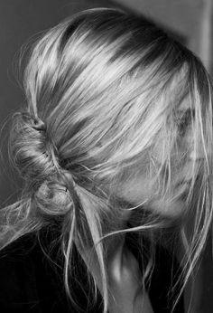 very cool messy hair