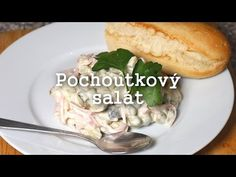 Pochoutkový salát - Nestárnoucí delikatesa! - YouTube New Recipes, Salads, Meat, Chicken, Youtube, Foods, Kitchens, Czech Recipes, Treats