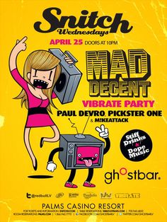 This Wednesday, don't miss a very special Snitch Wednesdays x Mad Decent party feat. Paul Devro, Pixter, and our very own DJ MIKEATTACK for a night of bumpin' Bass 550 feet above the Vegas Strip.