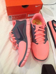 Adorable pink and gray nikes