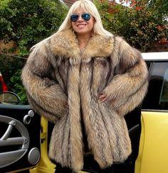 finn raccoon fur coat - Google Search