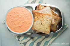 Roasted Red Pepper Goat Cheese Dip | Slender Kitchen