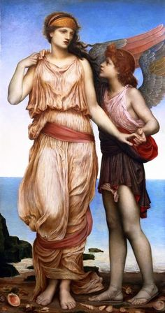Venus and Cupid. 1878. Evelyn De Morgan