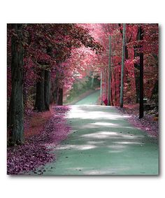Take a look at this Courtside Market | Majestic Pink Road Wrapped Canvas today!