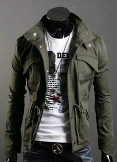 Slim Top Designed Mens Jacket Coat