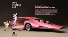 Think Pink: Drool over vintage automotive marvel the 'Pink Panthermobile'  http://dangerousminds.net/comments/think_pink_drool_over_vintage_automotive_marvel_the_pink_panthermobile