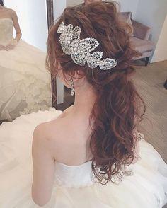 Very elegant hairdo for wedding #weddinghairdo #elegant