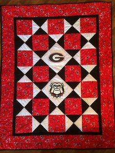 Georgia Bulldogs quilt for the grandbaby.