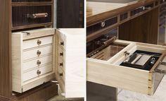 Bespoke desk with secret drawers.