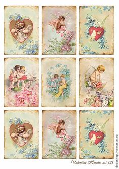 vintage valentine cards, victorian cards, cupid, vintage cupid
