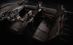 Jeep� Grand Cherokee Summit has first- and second-row leather-trimmed seats that are heated for comfort in every climate.The front seats are ventilated for added cooling on hot days. Summit leather-trimmed interior shown in Grand Canyon brown.