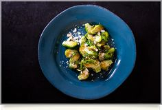 Roasted Brussel Sprouts Dusted with Coconut