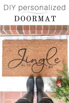 5 Easy Home Improvement Projects That Make Your Home Feel Like New - Sweet Crib Outside Door Mats, Front Door Mats, Diy Door Mats, Cute Door Mats, Fall Doormat, Christmas Doormat, Porch Mat, Front Porch, Outdoor Acrylic Paint