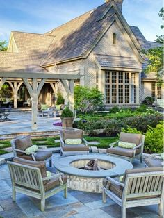 Small Patio Designs With Fire Pit.Rivenstone Patio With Olde Quarry Fire Pit Photos. Pergola Fire Pit And Lots Of The Outdoors . Covered Fire Pit Ideas Patio Transitional With Gas Fire . Home and Family Fire Pit Seating, Fire Pit Backyard, Backyard Patio, Backyard Landscaping, Backyard Ideas, Flagstone Patio, Patio Ideas, Outdoor Ideas, Patio Stone