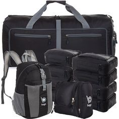 5bcc563a3a Family Travel Set - 10 Set Luggage and Accessories Organizer System