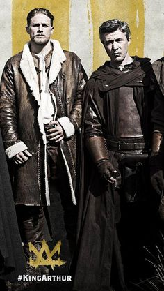 Aidan Gillen and Charlie Hunnam together again in King Arthur. ♥