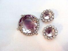 Stunning Givre Glass Stone Rhinestone Pin and by bitzofglitz4u, $ 65.00