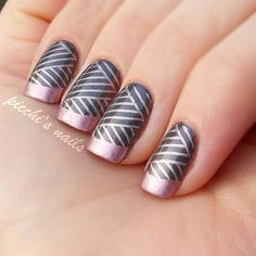 My first Konad French (by picchinails)  Reblogged byLorna