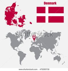 Pin by cristian chiriac on indonesia pinterest pointers and denmark map on a world map with flag and map pointer gumiabroncs Choice Image