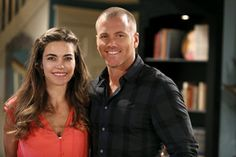 """Amelia Heinle and Sean Carrigan as Victoria and Stitch on """"The Young and the Restless."""""""
