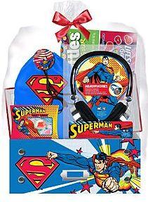 Pre-Made Easter Basket for Boys:  Superman Headphones Easter Gift Set at K-Mart