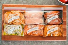 Awesome Marinades for chicken to use when you freeze chicken for later use!