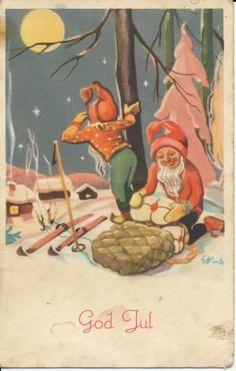 Erling Nielsen Norwegian Christmas, Scandinavian Christmas, Holiday Cards, Christmas Cards, Christmas Items, Painting, God, Costumes, Hipster Stuff